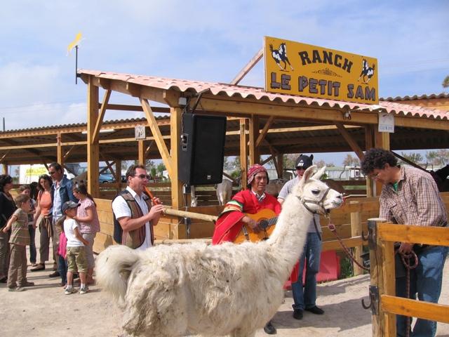 serge le lama au ranch le petit sam
