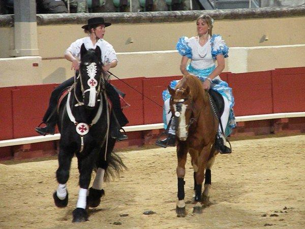 telethon 2010 a cheval avec un frison et un anglo arabe